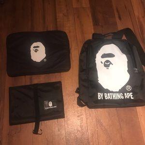 BAPE Backpack Computer Case School Organizer 3Pack